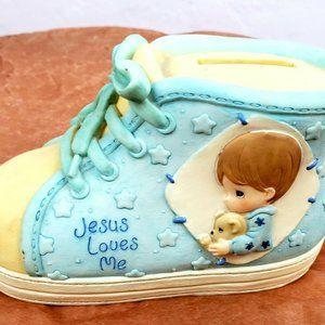 "1999 PRECIOUS MOMENTS ""JESUS LOVES ME"" BOYS SHOE"